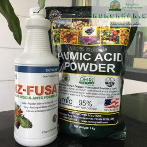 combo phân vi sinh EMZ-Fusa và Humic Mỹ